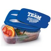 Team Environmental Services 2-Section Food Container With Utensils