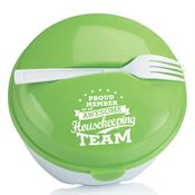 Proud Member Of An Awesome Housekeeping Team Round Food Container