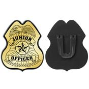 Junior Officer Gold Plastic Badge