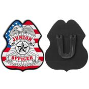 Junior Officer Patriotic Plastic Badge