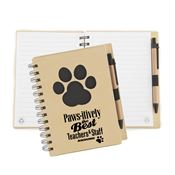 Paws-itively The Best Teachers & Staff Around Paw Die-Cut Eco Jotter & Pen