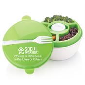 Social Workers: Making A Difference In The Lives Of Others Round Food Container With Compartments