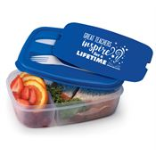 Great Teachers Inspire For A Lifetime 2-Section Food Container with Utensils