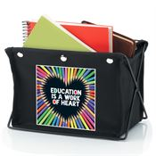 Education Is A Work Of Heart Fabric Desktop Caddy