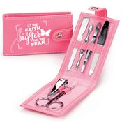 Let Your Faith Be Bigger Than Your Fear Leatherette Manicure Kit
