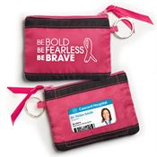 Be Bold, Be Fearless, Be Brave Fabric ID Wallet With Key Ring