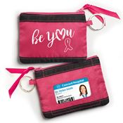 Be You Fabric ID Wallet With Key Ring