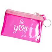 Be You Pink Translucent Zip Purse