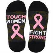 Tough Women Fight Strong Camouflage Cushioned Ankle Socks