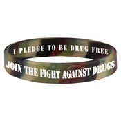 Join the Fight Against Drugs 2-Sided Camouflage Silicone Bracelet