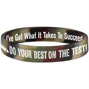 Do Your Best On The Test! 2-Sided Camouflage Silicone Bracelet