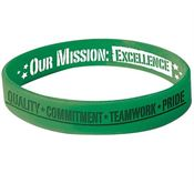 Our Mission Excellence Silicone Wristbands