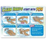 Clean Hands Start With You Mirror Cling