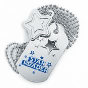 Star Reader Dog Tag With Charm