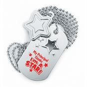 My Principal Thinks I'm A Star Dog Tag With Charm