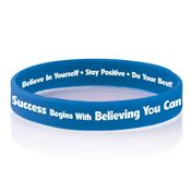 Success Begins With Believing You Can 2-Sided Silicone Bracelet