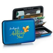 For All You Do We Appreciate You! Identity Guard Aluminum Wallet