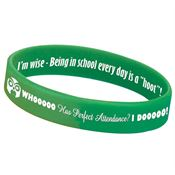 Whooooo Has Perfect Attendance? I Dooooo! 2-Sided Silicone Bracelet