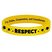 Respect 2-Sided Silicone Character Bracelet