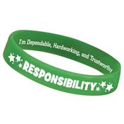 Responsibility 2-Sided Silicone Character Bracelet
