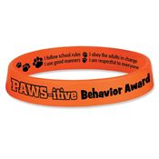 PAWS-itive Behavior Award 2-Sided Silicone Bracelet