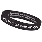 Keep Calm And Read On 2-Sided Silicone Bracelet