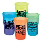 Be The Change You Wish To See In The World Assorted Mood Stadium Cups