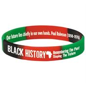 Black History: Remembering The Past, Shaping The Future 2-Sided Silicone Bracelet