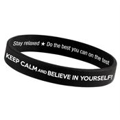 Keep Calm And Believe In Yourself! 2-Sided Silicone Bracelet