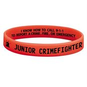 Junior Crimefighter Glow-In-The-Dark Silicone Awareness Bracelets