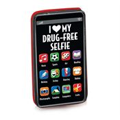 I (Heart) My Drug-Free Selfie Cell Phone-Shaped Eraser