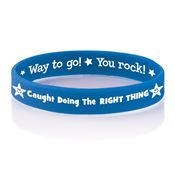 Caught Doing The Right Thing Two-Sided Silicone Awareness Bracelet