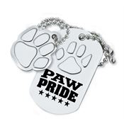 Paw Pride Dog Tag With Charm
