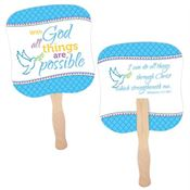 With God, All Things Are Possible Hand Fan