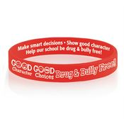 to help wristbands with silicone stop bullying raise awareness up pdg silhsa debossed collections color anti filled large and bracelet stand