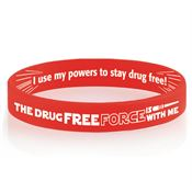 The Drug Free Force Is With Me Two-Sided Silicone Bracelet