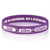 Stand Up, Stand Strong, Stand Together 2-Sided Silicone Bracelets