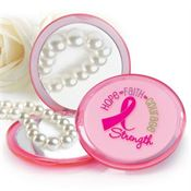Hope Faith Courage Strength Pink Compact Mirror