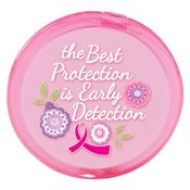 The Best Protection is Early Detection Pink Compact Mirror