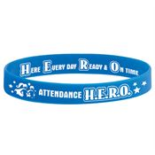 Attendance H.E.R.O 2-Sided Silicone Bracelet