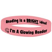 I'm A Glowing Reader Glow In The Dark 2-Sided Silicone Bracelet