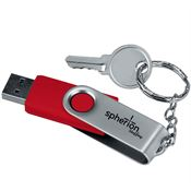 Red 2GB USB Flash Drive Keychain - Personalization Available