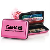 Pink Aluminum Identity Guard Wallet - Personalization Available