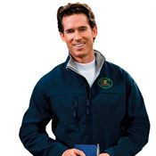 Wind And Water Resistant Men's Soft Shell Jacket - Personalization Available
