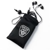 Earbuds In Black Pouch - Personalization Available on Pouch