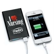 I (Heart) Nursing Slim Metal Phone & Tablet Power Bank - Personalization Available