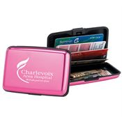 Pink Identity Guard Aluminum Wallet - Personalization Available