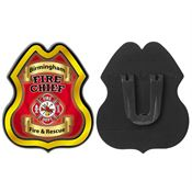 Fire Chief Plastic Junior Firefighter Badge - Personalization Available