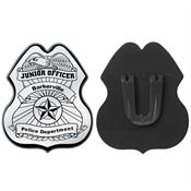 Silver Junior Officer Plastic Badge - Personalization Available