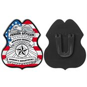Patriotic Junior Officer Plastic Badge - Personalization Available